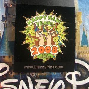 Disney Happy New Year Chip n Dale Pin